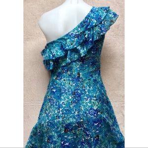 Jessica Simpson Dresses - Jessica Simpson One Shoulder Floral Dress